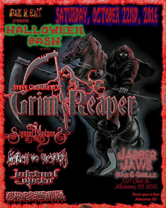Doors 6 pm $17 Grim Reaper Halloween Bash !!!