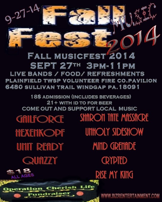 FALL MUSIC FEST -sept. 27th  copy
