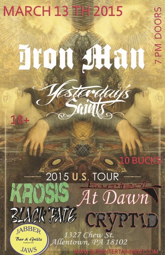 RONMAN & YESTERDAY SAINTS , Buried At Dawn, Krosis, Cryptid & Black Fate