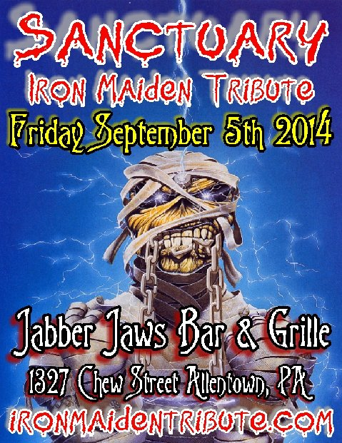 SANCTUARY (Iron Maiden Tribute Band) w/ BEYOND FALLEN ,THREAT POINT Jabber Jaws Bar and Grille