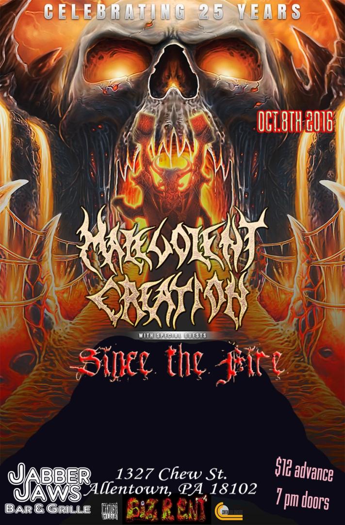 Malevolent Creation w/ Sice the Fire,Sakrilegist ,Goat Wizard +