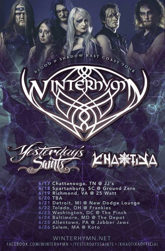 winters hymn tour poster n
