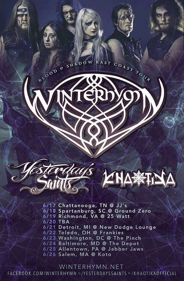 winters hymn tour poster n